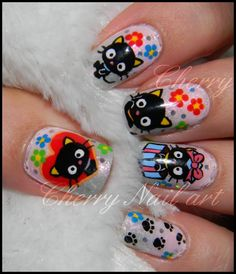 omg chococat nails! :)