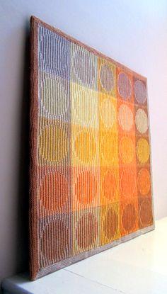 illusion knitting / shadow knitting wall hanging : illusion knitting / shadow k. illusion knitting / shadow knitting wall hanging : illusion knitting / shadow k… illusion knitt Yarn Projects, Knitting Projects, Loom Knitting, Hand Knitting, Yarn Wall Art, Knit Art, Hanging Fabric, Hand Dyed Yarn, Knitted Blankets
