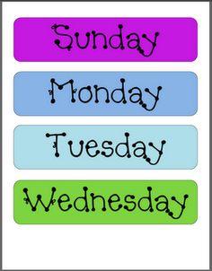 Printable Calendar Numbers Free Download Sets  Calendar