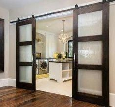 ideas for contemporary barn door in the house Room Doors, Contemporary Barn, Interior, Glass Barn Doors, House, Door Design, Wood Doors Interior, Doors Interior, Remodel Bedroom