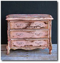 Amy Howard Painted Furniture | hand painted jewelry box french provincial pink shabby chic etsy