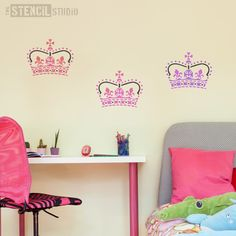 Crown Stencil - Buy reusable wall stencils online at The Stencil Studio.