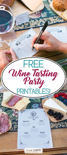 These wine tasting party printables are so cute, and you get to choose chalkboard or craft paper desings!