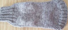 Hand-knitted sweater for dog size S in grey.
