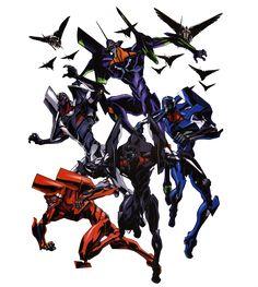 The complete Eva Series from Neon Genesis Evangelion
