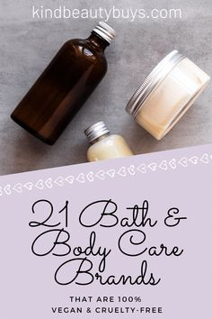 In need of a new body wash, bath bomb or body lotion? Need it to be vegan & cruelty-free? Then look no further than these 21 beautiful bath & body care brands. Best Body Butter, Vegan Friendly, Bath Bombs, Body Wash, Body Lotion, Cruelty Free, Bath And Body, Skincare, Make It Yourself