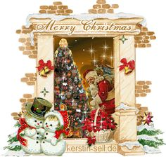Stunning image - - from the clip art category animated Merry Christmas gifs & images! Merry Christmas In Italian, Merry Christmas Images Free, Merry Christmas Wishes, Old Fashioned Christmas, Christmas Past, Merry Christmas And Happy New Year, Christmas Pictures, Whimsical Christmas, Vintage Christmas