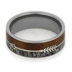Antler, Ironwood Burl, Silver, Titanium, Wood, Jewelry, Antler Rings, Mens Wedding Bands, Titanium Rings, Wedding Bands, Wood Rings, Ring, Jewelry by Johan