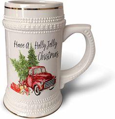 Christmas Red Truck, Christmas Mugs, Christmas Tree, Custom Printed Mugs, White Brand, High Gloss, White Ceramics, Things To Sell, Christmas Mug Rugs