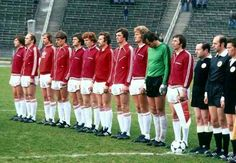 Poland team line up for the 1974 World Cup Finals.