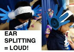 EAR SPLITTING is the word, LOUD is the definition in this simple but unforgettable Vocabulary Parade costume! More at debrafrasier.com, click on the Miss Alaineus cover!
