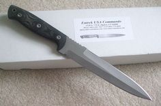 Entrek USA Commando Fighting Combat Dagger Knife Hand Made by Ray Ennis #EntrekUSA