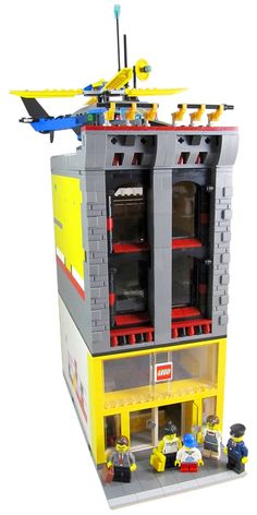 Lego Custom Modular Town/City/Train Store Shop & Headquarters 5 Minifigures Figs #LEGO