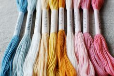 Image of WAKU-WAKU Sustainable Textiles, Cotton Thread, Color Combos, Craft Supplies, Ribbon, Crafts, Lovers, Natural, Image