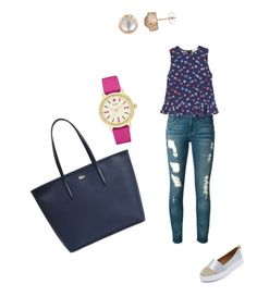 """""""Sin título #318"""" by shary-elivo on Polyvore featuring moda, Frame, Rebecca Taylor, Kaanas, Kate Spade y Lacoste"""