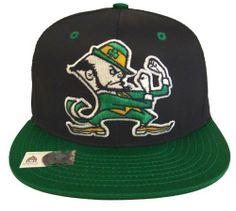 ac45dbce9cfcf Notre Dame Fighting Irish Retro Snapback Cap Blk Grn .  19.99. Brand new snapback  cap. Embroidered team logos. Snapback design. One Size Fits Most.