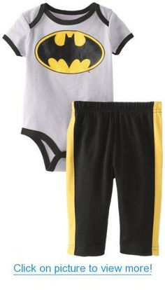 30b80499e0ee Disney Baby Baby-Boys Newborn Batman Creeper Pant Set