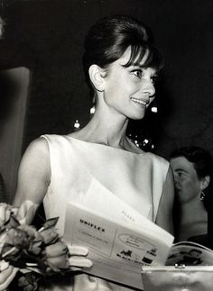"""Audrey Hepburn attends the charity premiere for """"Breakfast at Tiffany's"""" in London, on October 19, 1961."""