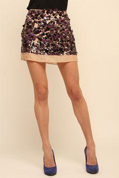 Hand Beaded Mini Skirt!...