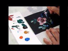 【トールペイント】描き方② バラ How to draw Rose