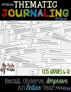 How can you do it all? Thematic Journaling: Recall, Observe, Improve, For an Entire Year ($)
