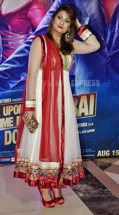 Urvashi Dholaki, who won Bigg Boss 6, was also seen in white and red anarkali. (Photo: Varinder Chawla)