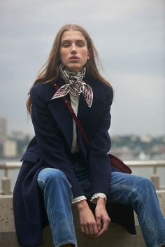 Navy Coat by Club Monaco { Cool Chic Style Fashion}