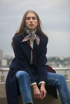 Navy Coat by Club Monaco { Cool Chic Style Fashion}