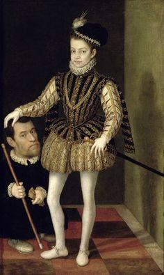 Giacomo Vighi, detto l'Argenta of Charles Emmanuel of Savoy with dwarfDatecirca locationGalleria Sabauda, Torino