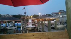 Jolly Rogers Restaurant in Ocracoke Island on the Outer Banks in NC. Fun place, great music and friendly locals.
