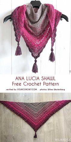 Ana Lucia Shawl Free Crochet Pattern