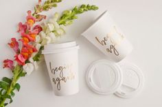 To-Go Disposable Coffee Cups | Begin Again