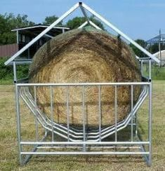 Miniature Breeds Of Cattle That Are Perfect For Small Farms Round Bale Hay Feeder, Goat Hay Feeder, Cattle Farming, Goat Farming, Livestock, Hay Feeder For Horses, Horse Feeder, Cow Pen, Miniature Cows