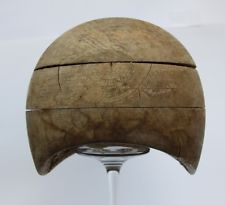 vintage wooden hat  block cloche  hat crown  millinery