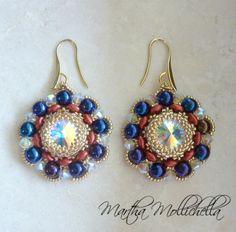 Martha Mollichella: Orecchini handmade realizzati con perle e Swarovsk...