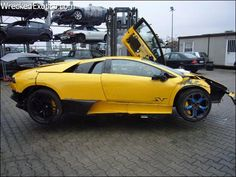 A test driver overstepped the bounds of this Murcielago SV.