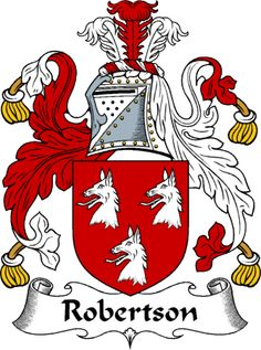 Robertson coat of arms for my son-in-law, who will get a kick out of it. It's very grand.