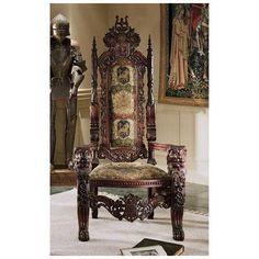 Toscano, AF1038, Chairs, Toscano Af1038 Lord Raffles Throne