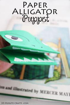 Paper Alligator Puppet