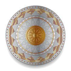 Circumplexical No 3497 by Alan Bennington Art Prints For Sale, Caftans, Mandala Art, Plates On Wall, Beautiful Patterns, Pattern Wallpaper, Decorative Plates, Digital Art, Greeting Cards