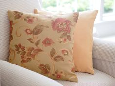 These are so very grown up.   Your mom would approve.   Floral Pillow with golden honey tones by BubbleGumDish.com on Etsy