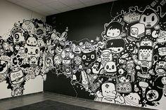 Arte urbana dentro de casa