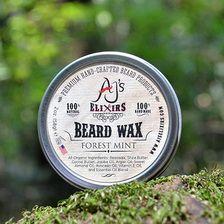 AJ Elixirs Beard Wax Beard Wax, Mint, Image, Peppermint