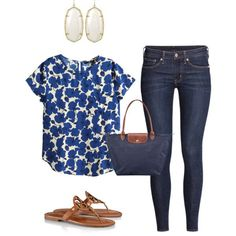 Spring Time by corinnejacobs on Polyvore featuring H&M, Tory Burch, Longchamp and Kendra Scott