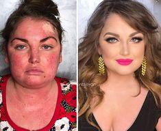 16 Before And After Makeup Transformations Photos – Power of Makeup … – Best Beauty Tips Airbrush Makeup, Contour Makeup, Contouring And Highlighting, Makeup Tips, Beauty Makeup, Eye Makeup, Makeup Tutorials, Star Makeup, Fairy Makeup