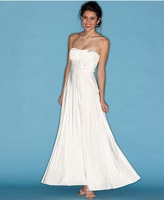 Speechless Juniors Dress, Strapless Gown with Rose-Waist Detail - Womens Dresses - Macy's