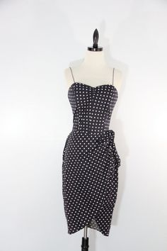 Vintage 1980s strap or strapless day Dress party by EightiesLadies, $29.00