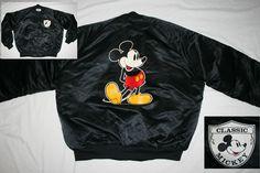 Vintage Chalkline CLASSIC MICKEY WALT DISNEY snap quilt Jacket-Men XL-Chalk Line #ChalkLine #BasicJacket