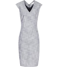 Womens Grey Blue Tailroed Dress - Reiss Remi Dress