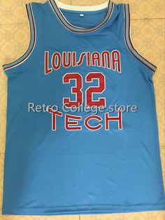 352346cd6 #32 Karl Malone Jerseys ,Louisiana Tech Bulldogs Blue College Basketball  Jersey Size XXS 6XL Karl Malone Basketball Jersey-in Basketball Jerseys  from Sports ...